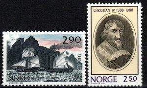 Norway #928, 932 MNH CV $3.50 (Z9746)