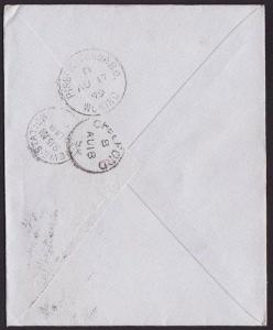 GB 1899 cover PIRBRIGHT CAMP BO / WOKING cds on reverse.....................1251