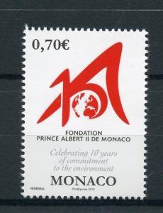 Monaco 2016 MNH Prince Albert II Foundation 1v Set Environment Stamps