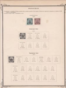 honduras stamps page ref 17157