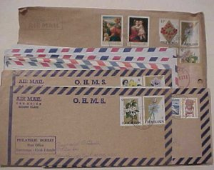 COOK ISLANDS  22 COVERS FROM 1956 MOSTLY TO USA