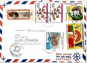 MADAGASCAR 1984 Cover Missionary Air Mail MIVA MAHAVELONA CM69