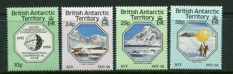 British Antarctic Territory Scott 141-44 1987 Geophysical Year Mint NH