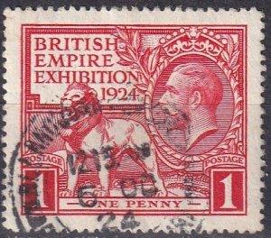 Great Britain #185  F-VF Used CV $5.50  (Z4613)