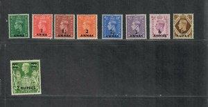 Oman Sc#16-24 M/LH/VF, Cv. $56.25