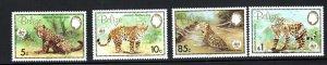 Belize SC689-692 Jaquar-WWWildLifeFund-Emblem  MNH1983