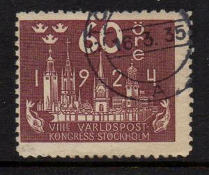 Sweden Sc 207 1924 60 ore brown UPU Congress stamp used