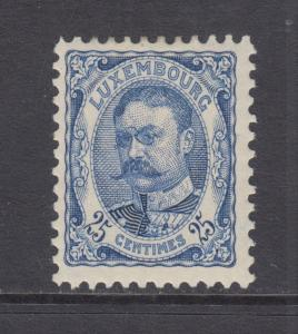 Luxembourg Sc 86 MLH. 1907 25c Grand Duke William, fresh & F-VF