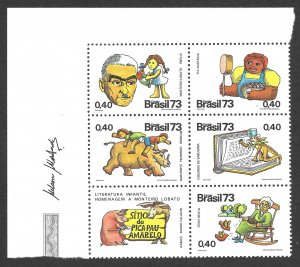 Doyle's_Stamps: 1973 Brazilian Children's Book Author Block