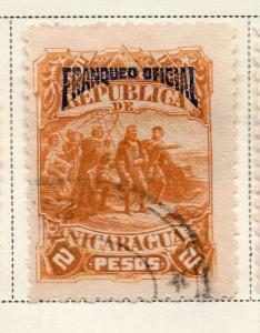 Nicaragua 1892 Early Issue Fine Used 2P. Official Optd 323713