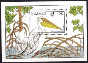 1988 Gambia 748/B44 Flora and fauna /Pelican