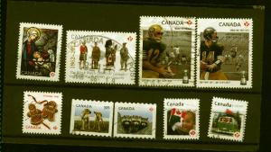 Canada #2500,2503,2506-07,2570,2574,2578,2582-83    used 2012  PD