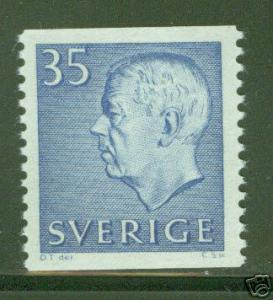 SWEDEN 577 MNH** 1962 Gustaf VI coil stamp Scott  CV $1.10