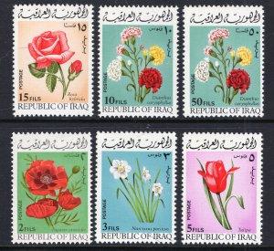 Iraq 526-531 Flowers MNH VF