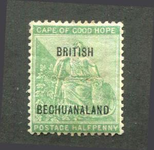British Bechuanaland 10½mm Apart Scott 41 Mint Hinged VF
