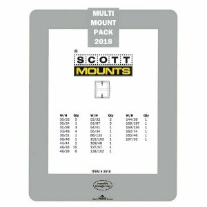 Prinz Scott Stamp Mount Set 2018 CLEAR (54 Mounts)