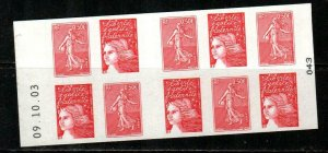 France Scott 2984a Mint NH booklet (Catalog Value $25.00)