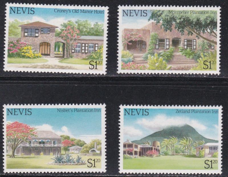 Nevis MNH 280-3 Tourism Buildings
