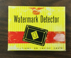 Vintage Stamp Watermark Detector Hygrade Brand w/original box