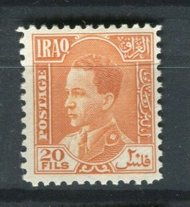 IRAQ; 1934 early Ghazi issue Mint hinged 20f. value