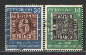 Germany - Deutsche Post 1949 Sc# 668 & B309 Used G/VG - Early Post war issues
