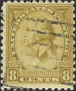 # 713 Used Olive Bister Washington Bicentennial