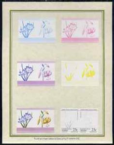 Tuvalu - Nanumaga 1985 Flowers (Leaders of the World) 25c...
