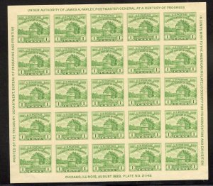 US Stamp #730 Souvenir Sheet MINT NH SCV $20