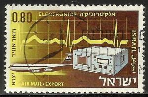 Israel Air Mail 1968 Scott# C44 Used
