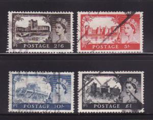 Great Britain 371-374 Set U Queen Elizabeth II (A)