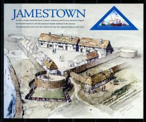 UNITED STATES SCOTT#4136 JAMESTOWN SHEET OF TWENTY MINT NEVER HINGED