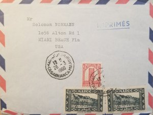 J) 1960 MOROCCO, VALLE OF DRAA, MULTIPLE STAMPS, AIRMAIL, CIRCULATED COVER, FROM