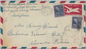71745  - USA - POSTAL HISTORY - added franking on STATIONERY COVER to BAHAMAS