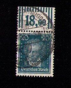 Germany, Rare 20pf Scott #357 Used Wolfgang Von Goethe F-VF