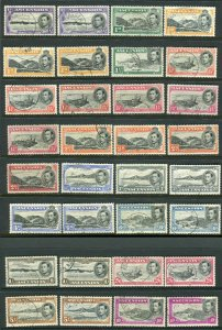 ASCENSION-1938-53 FU set to 10/- including all additional listed perfs Sg 38-47b