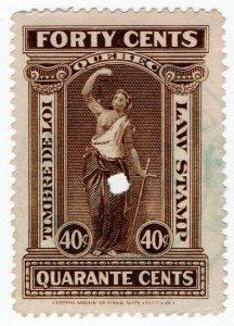 (I.B) Canada Revenue : Quebec Law Stamp 40c
