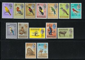 BECHUANALAND PROTECTORATE SCOTT #180-193 1961 QEII PICTORIALS-  MINT HINGED