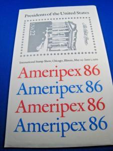 UNITED STATES - AMERIPEX 86 - PRESIDENTS SHEETS     MNH      (brig)