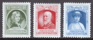 Liechtenstein - Scott #90//92 - Short set - MH - SCV $2.80