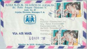 75571 - NICARAGUA - POSTAL HISTORY - AIRMAIL COVER to NORWAY - MEDICINE  1990