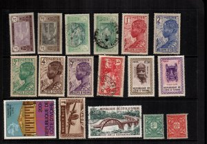 Ivory Coast   17 different  used and mint hinged