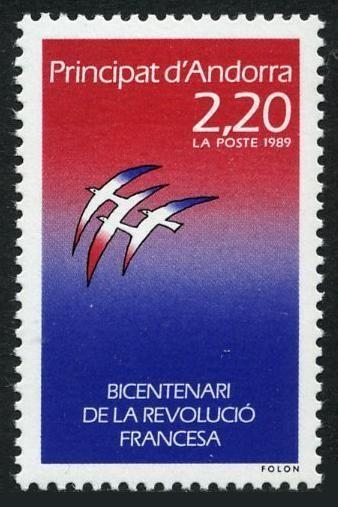 Andorra Fr 370,MNH.Michel 397. French Revolution,200th Ann.1989.