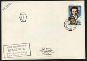 BR ANTARCTIC TERR 1981 Taxed ship cover ex ROTHERA POINT..................71201W