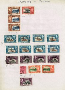 Trinidad And Tobago USED STAMPS ON PAGE COLLECTION LOT  #1