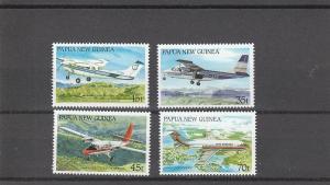 Papua New Guinea  Scott#  687-90  MNH  (1987 Aircraft)