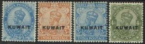 KUWAIT 1923 KGV 2A6P - 4A WMK LARGE STAR