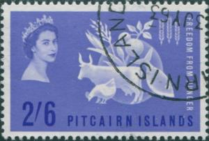Pitcairn Islands 1963 SG32 2/6d Freedom from Hunger FU