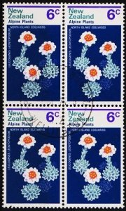 New Zealand. 1972 6c (Block of 4) S.G.984 Fine Used