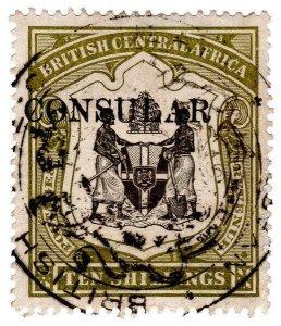 (I.B) Rhodesia/British Central Africa Revenue : Consular 10/-