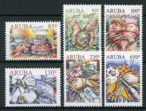 Aruba 2018 MNH Greetings Happy Birthday Valentines 6v Set Flowers Stamps